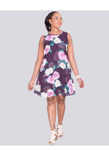 Jessica Howard FIDELITY - Floral Print Overlay Dress