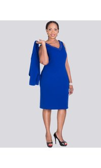 BERTHA - Plus Size 3/4 Sleeve Jacket and Dress