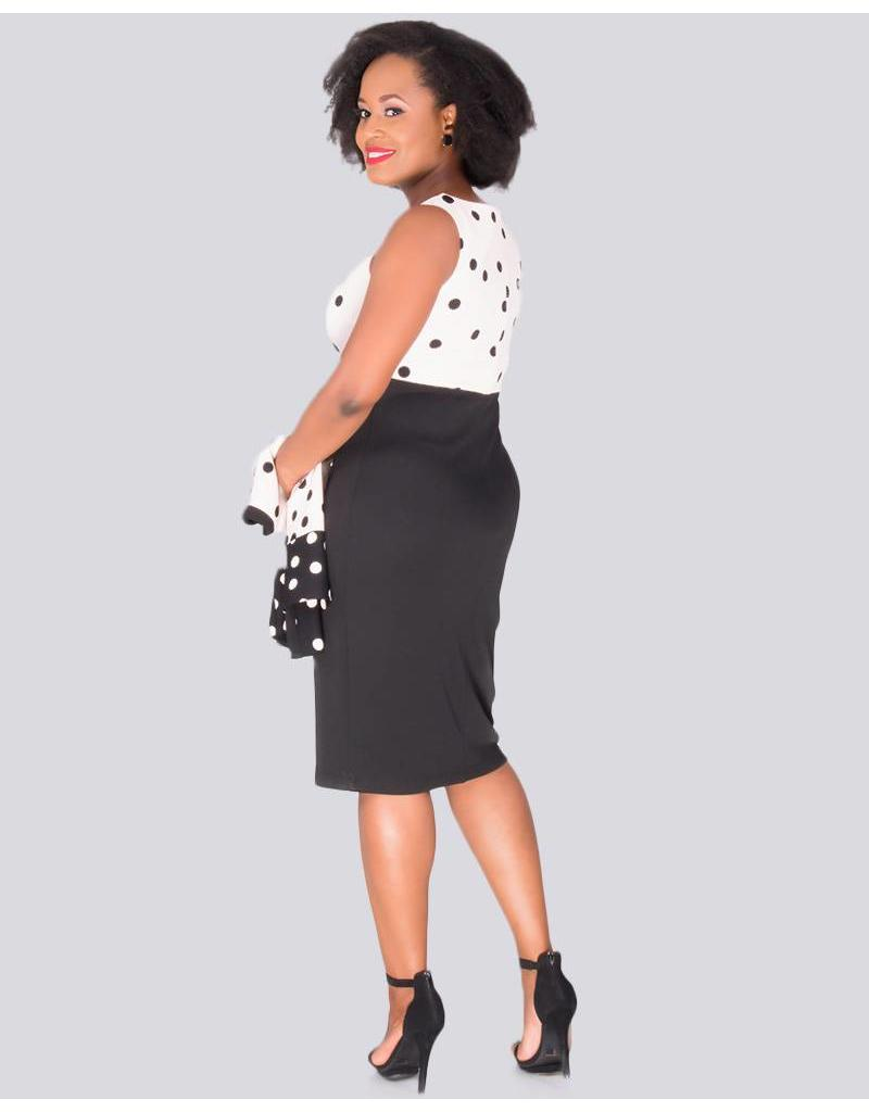 BAY - Printed 3/4 Sleeve Jacket and Sleeveless Dress