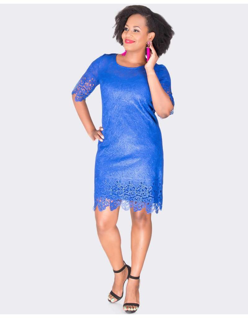 LEE - Laser Cut Short Sleeve Dress