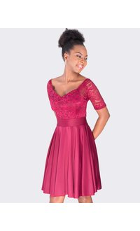 INEKE - Lace top fit and flare dress