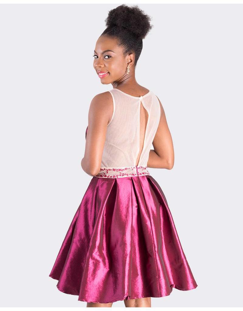 HADIYA - Petite Illusion Cocktail Dress