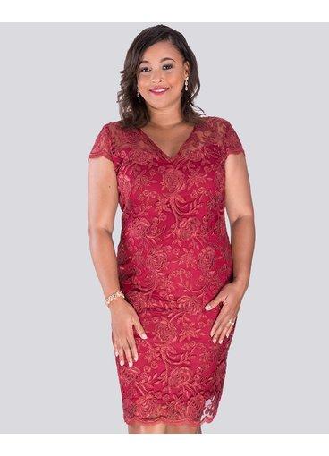 MARVA - Lace Short Sleeve Dress