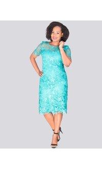 CADDIE - Lace Illusion Dress