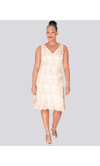 MIMI - Sleeveless Lace Overlay Dress