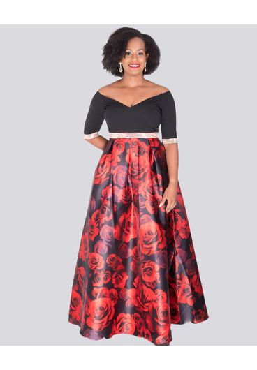 SABRA - Petite Two Tone Gown