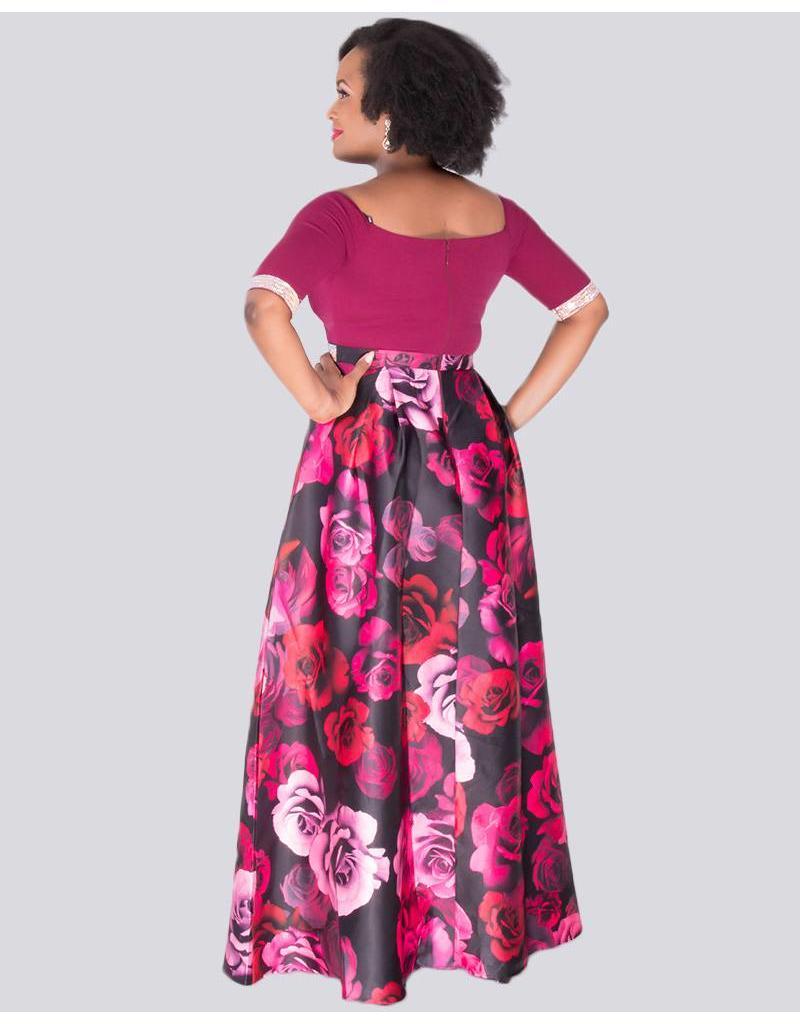 SABRA - Petite Two Tone Gown
