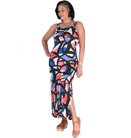 Nine West INDEE-Printed Maxi Dress with Slips