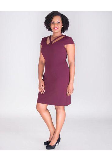 ROXANNA- X Style Crepe Dress