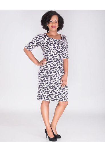 IMIZA-Cowl Neck Short Sleeve Dress