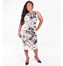 Scuba Floral Print Dress