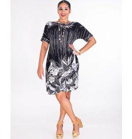 Signature INTIRA- Puff Print Short Sleeve Dress