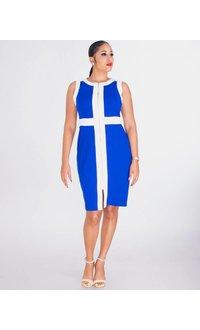 Shelby & Palmer ROMOLA- Sleeveless Zip-Front Crepe Dress