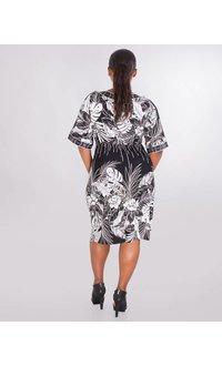 Signature INTIRA- Plus Size Puff Print Short Sleeve Dress