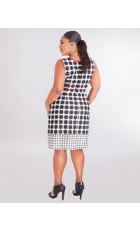 Studio 1 URUMA- Printed Jacket Dress With String Belt