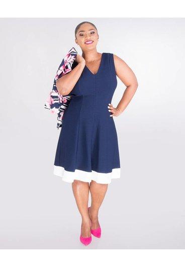 Signature BLAIR- Plus Size Floral Jacket Dress