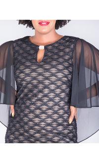MAVIS- Mesh Dress With Bell Sleeves