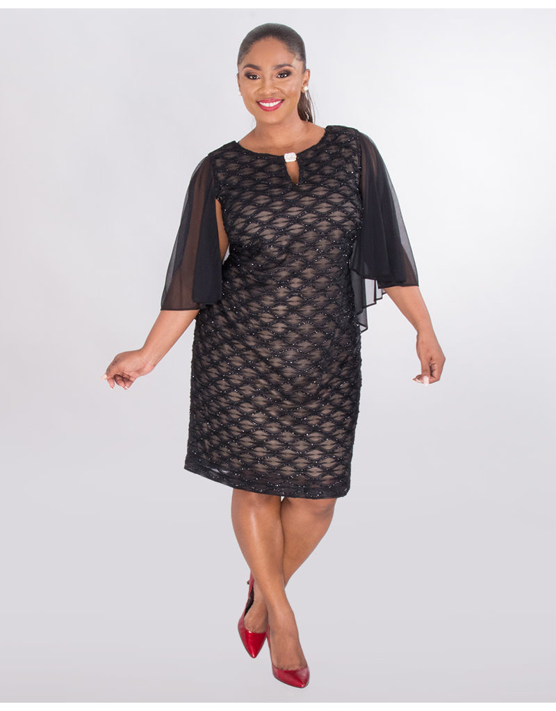 85042a97ec1 MAVIS- Plus Size Mesh Dress With Bell Sleeves - Harmonygirl.com