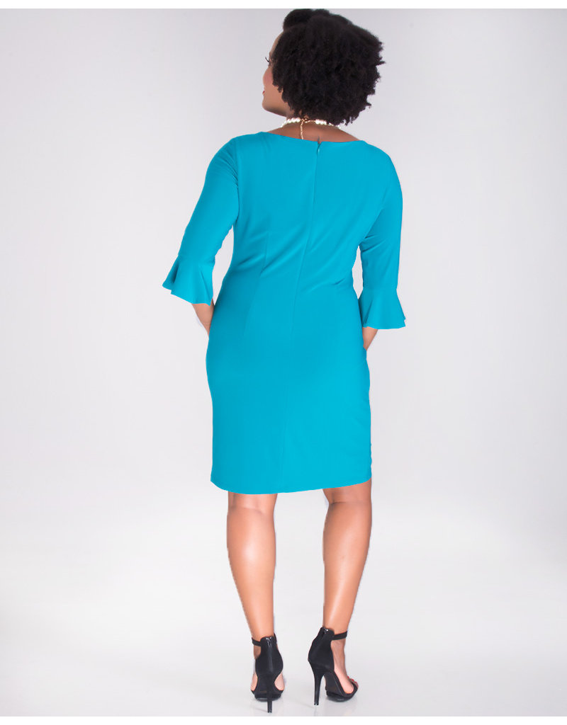 Nine West INDRANI- Round Neck 3/4 Sleeve Dress