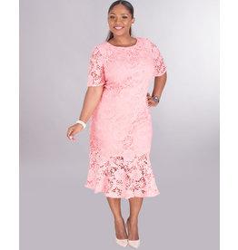 CALISTA- Crochet Dress With Ruffle Hem