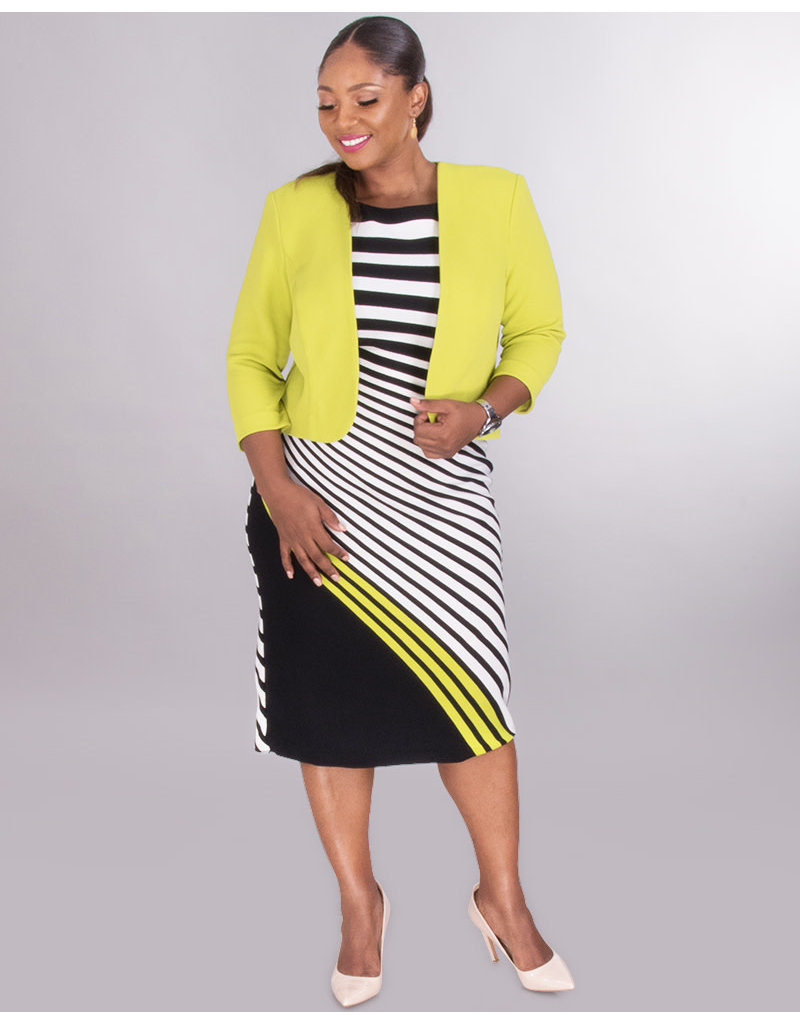Plus Size Dress with Jacket