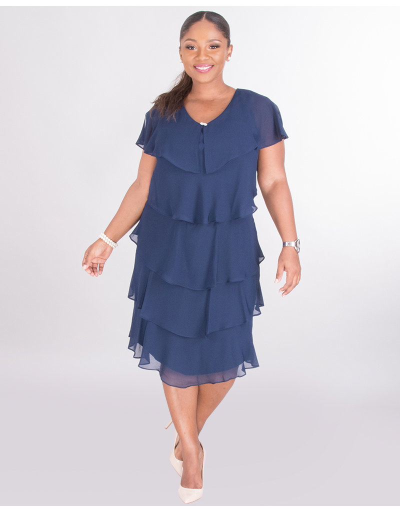 FELICIDAD- Flutter Cap Sleeve Dress