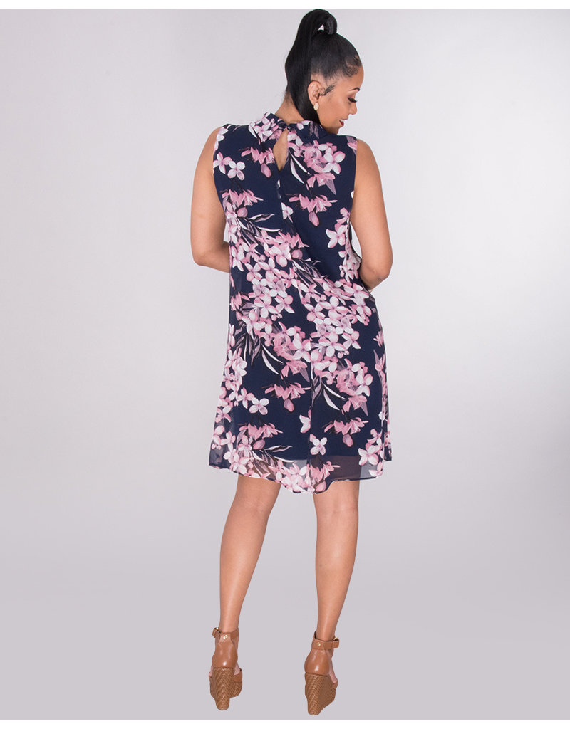 FOTINA- Floral Turtleneck Dress