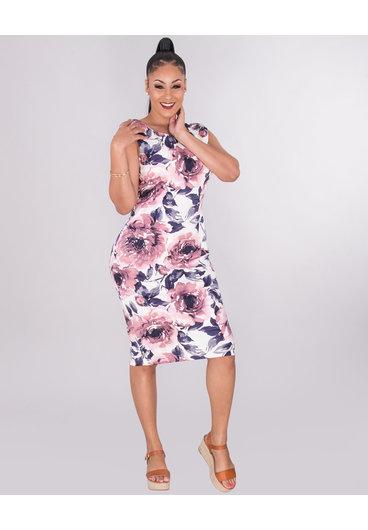 PALOMA- Printed Sleeveless Dress