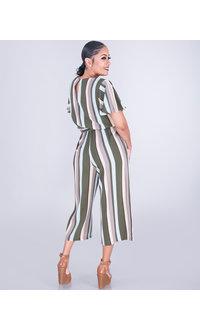 RAVI- Striped Short Sleeve Jumper