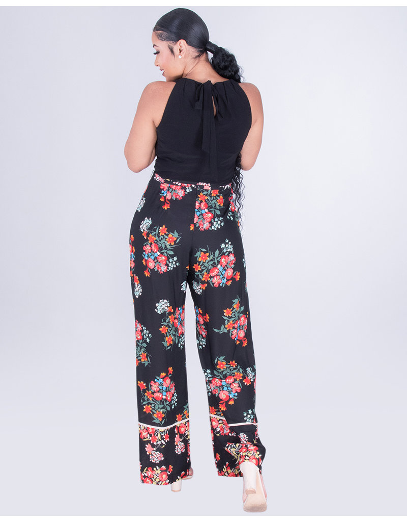 FLORIA- Floral Hi-Neck Jumper