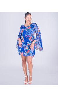 Kensie FIORA- Floral Sheer Shift Dress