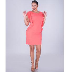 Jessica Howard RANDISA- Ruffle Trim Crepe Dress