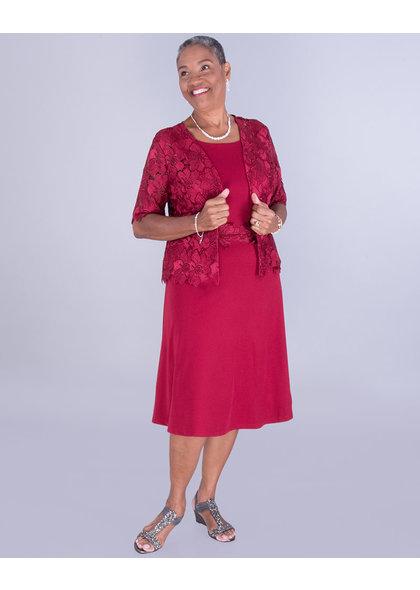 IYABO- Crochet Lace Jacket Dress