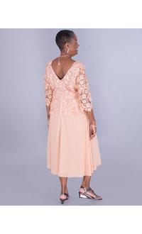 FAUNIEL- Crochet Lace Popover Dress