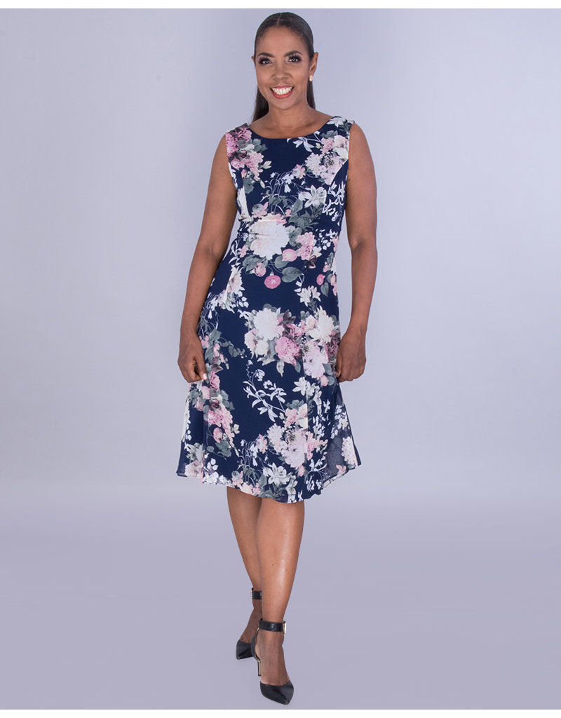 FALLYN- Floral Sleeveless Fit and Flare