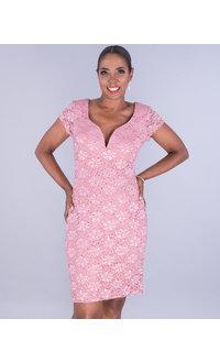 LINNEA- Sequined X-Neck Dress