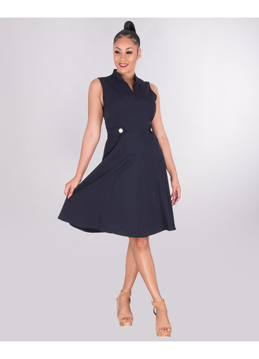 Jessica Howard RESHAN-V-Neck Dress With Button Tabs