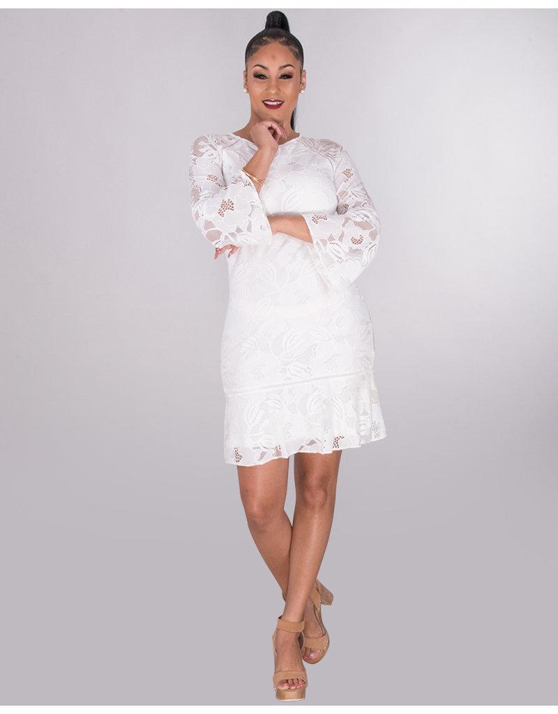 Kensie LORENZA- Lace 3/4 Sleeve Dress