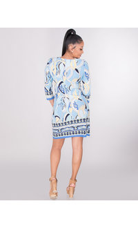 IRIDA- Printed Three Quarter Sleeve Dress