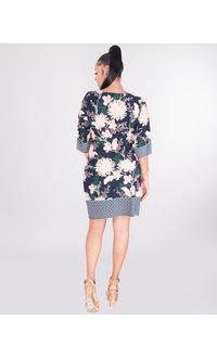 YULEMY- Floral Short Sleeve Shift Dress