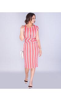Pyramide XIMENA- Striped Bodycon Dress