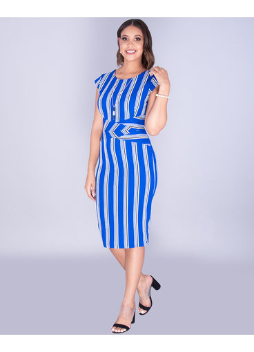 Pyramide XIMENA- Striped Bodycon Dress