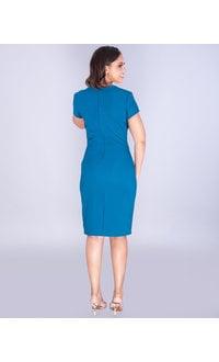 ULYANA- Sculpted Square Neck Dress