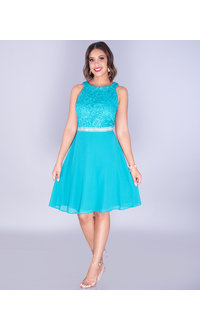 New Bell FADIA- Glitter Lace Top Dress