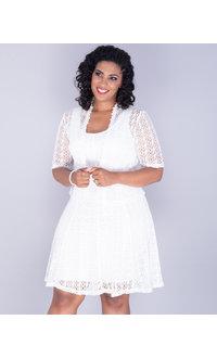 Signature CHERISH- Crochet Fit and Flare Jacket Dress
