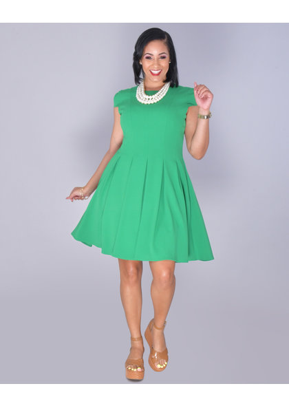 Julia Jordan RASHANI- Cap Sleeve Fit And Flare Dress