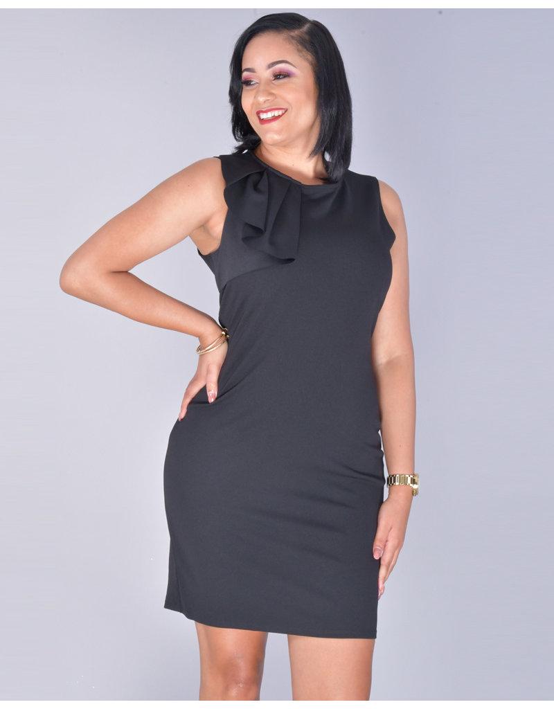Bebe RAMLA- Ruffle Accent Sleeveless Dress
