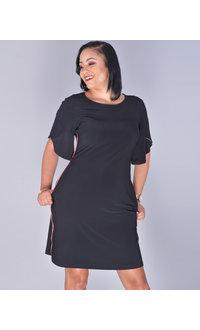 MSK YASTI- Trimmed Tulip Sleeve Dress