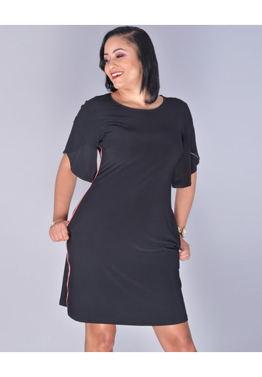 MSK YASTI- Trimmed Tulip Sleeve Dress