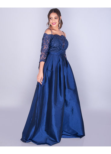 TARA- Lace Top Off Shoulder Gown